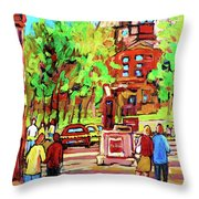 Downtown Montreal Mcgill University Streetscenes Throw Pillow