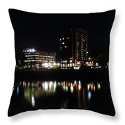 Downtown Morgantown From The Waterfront Throw Pillow