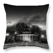 Downtown Murphy Nc In Black And White Throw Pillow