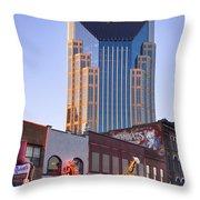 Downtown Nashville Throw Pillow