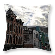 Downtown Nashville Throw Pillow