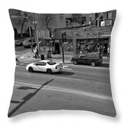 Downtown Nashville Legends Corner Throw Pillow by Dan Sproul