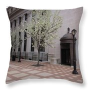 Downtown New Haven Connecticut Throw Pillow