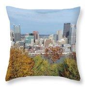 Downtown Pittsburgh From Mount Washington 4 Throw Pillow