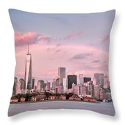 Downtown Rainbow Throw Pillow