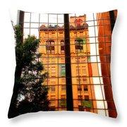 Downtown Reflection Throw Pillow