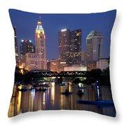 Downtown Skyline Of Columbus Throw Pillow