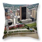 Downtown Skyline Of Toledo Ohio Throw Pillow