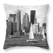 Downtown Skyline Of Toronto On Throw Pillow