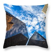 Downtown Skyscrapers Throw Pillow
