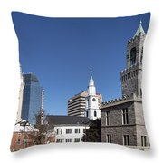 Downtown Springfield Throw Pillow