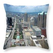 Downtown St. Louis Throw Pillow