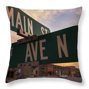 Downtown State Center Throw Pillow