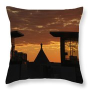 Downtown Sunrise Throw Pillow