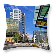 Downtown Tacoma Hdr Throw Pillow