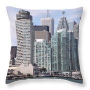 Downtown Toronto Ontario Throw Pillow
