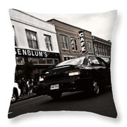 Downtown Traffic Throw Pillow