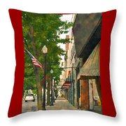 Downtown Usa Throw Pillow