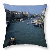 Downtown Venice Throw Pillow