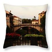 Downtown Vicenza Throw Pillow
