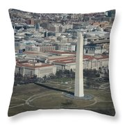 Downtown Washington Dc Throw Pillow