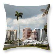 Downtown West Palm Beach Throw Pillow
