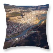 Downtown Whitehorse Yukon Territory Canada Throw Pillow