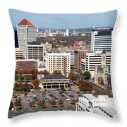 Downtown Wichita Throw Pillow