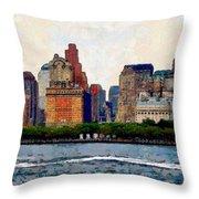 Downtown With Edward Throw Pillow