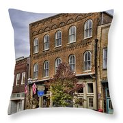 Dowtown General Store Throw Pillow by Heather Applegate