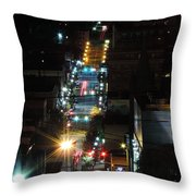 Dowtown Morgantown From Above Throw Pillow