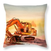 Dozer In Watercolor  Throw Pillow