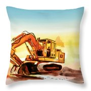 Dozer October Throw Pillow