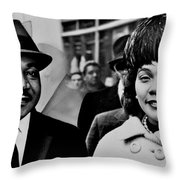 Dr And Mrs King Throw Pillow