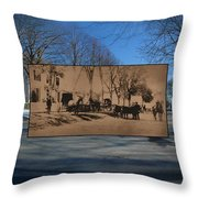 Dr. Isaac B. Cowen At The Little Compton Commons In Rhode Island Throw Pillow