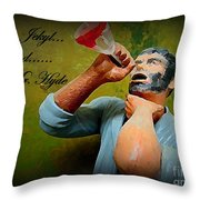 Dr. Jekyl And Mr. Hyde Throw Pillow