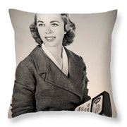 Dr Joyce Brothers 1959 Throw Pillow