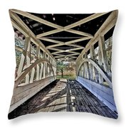 Dr. Knisely Covered Bridge Throw Pillow