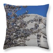 Dr Martin Luther King Jr Memorial Throw Pillow