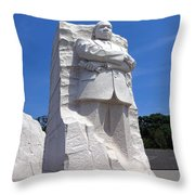 Dr Martin Luther King Memorial Throw Pillow