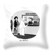 Dr. Millmoss! Throw Pillow