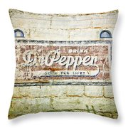 Dr Pepper-good For Life Throw Pillow
