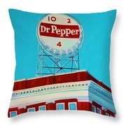 Dr Pepper Sign Roanoke Virginia Throw Pillow