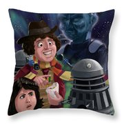 Dr Who 4th Doctor Jelly Baby Throw Pillow
