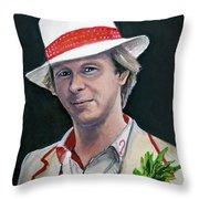 Dr Who #5 - Peter Davison Throw Pillow