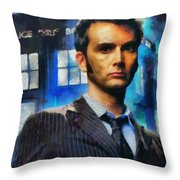 Dr Who Number 10  Throw Pillow