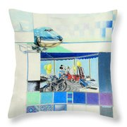 Draaimolen Throw Pillow