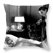 Dracula Bela Lugosi Fantasy Nude Throw Pillow