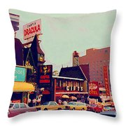 Dracula Castle Tussaud Wax Museum Niagara Falls Ontario Attractions Vintage Art C Spandau Paintings Throw Pillow