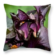 Dracula's Flower Throw Pillow